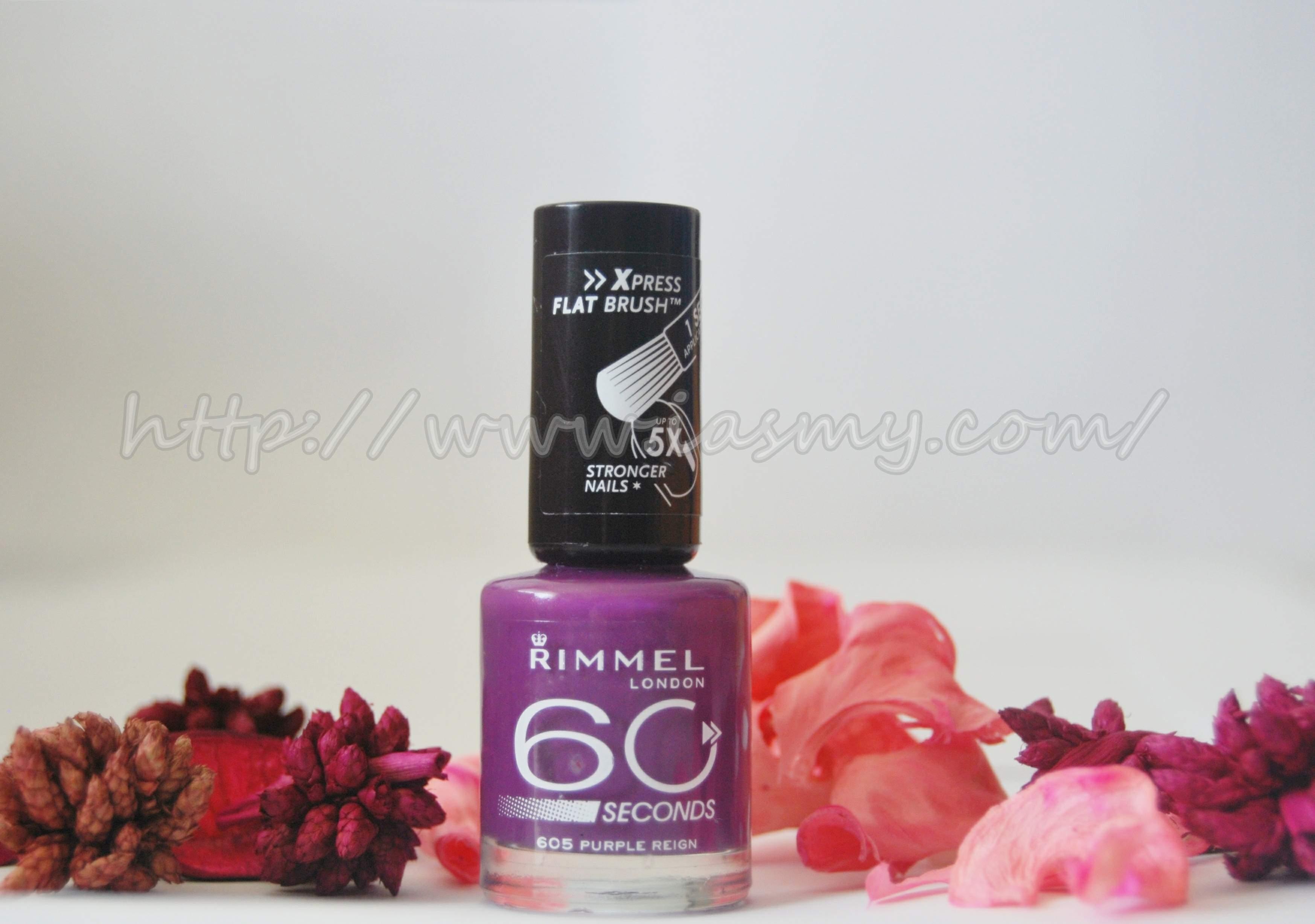 Rimmel London 60 seconds,605 Purple Reign